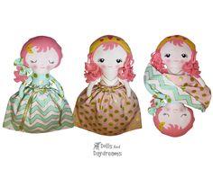 Topsy Turvy Sleeping Beauty Doll Sewing Pattern