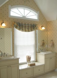 You can purchase bathroom curtain sets at Walmart, Sears and Target at fair prices that will be awesome to enhance much better look as bathroom window decorating styles.