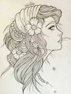 Image result for neo traditional tattoo black and grey gypsy