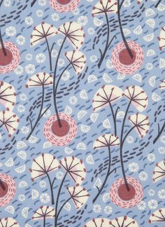 Winter Stem - dress fabric for Liberty - by Angie Lewin