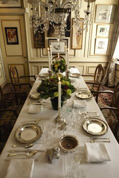 Elegant table setting. http://www.annabelchaffer.com/categories/Dining-Accessories/