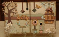 """Beautiful use of the Serenade cartridge by Monique Griffith Designs: """"Joy"""" Decorative Canvas"""