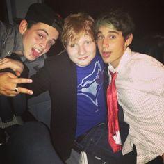 Daniel & Luke with Ed Sheeran