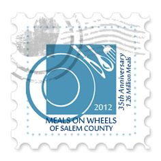 Stamp of the Day #3 - Salem County Meals on Wheels Celebrates 35 Years of Service - Over 1.26 Million Meals Served to Salem County's homebound elderly and disabled residents since 1977.