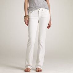 """J Crew White Bootcut denim Excellent condition.  No signs of wear.  30"""" inseam, 8"""" rise, 15.5"""" waist.  Size 27S (short).  No trades. Reasonable offers welcome Note: 20% off bundles of 2+ items in my closet! J. Crew Jeans Boot Cut"""