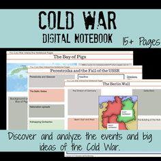 Cold war concepts get deep engagement with this digital interactive notebooks. Great for classrooms. Social Studies Classroom, Teaching Social Studies, Student Learning, High School History, History Education, Creative Teaching, Reading Activities, Interactive Notebooks, Graphic Organizers