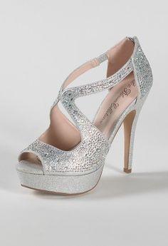 WOMANS Fancy Matrimonio Tacchi Da Sera Occasione Donna scarpe fibbia cristallo azzurro