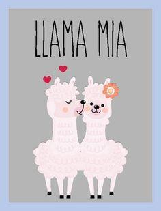 Classroom Walls, Classroom Posters, Classroom Themes, Mamma Mia, Alpacas, Llama Face, Llama Gifts, 3d Chalk Art, Cute Llama