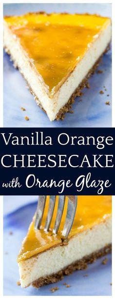 Vanilla Orange Cheesecake with Orange Glaze