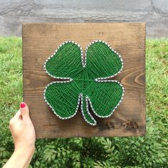 MADE TO ORDER Four Leaf Clover String Nail Art Sign