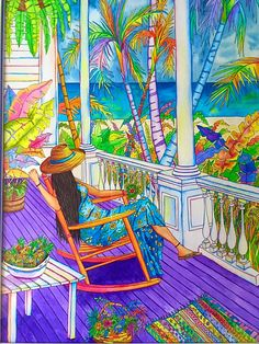 A personal favorite from my Etsy shop https://www.etsy.com/listing/181750583/purple-porch-watercolor-canvas