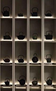 Glass Shelves For Shower Niche Shelf Design, Display Design, Store Design, Glass Shelves, Display Shelves, Shelving, Chinese Tea Room, Japan Interior, Feature Wall Design