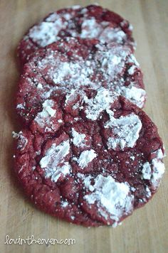 red velvet cookies by kimberlywyn, via Flickr
