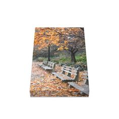 Autumn in New York City Riverside Park NYC Photo Canvas Print - decor gifts diy home & living cyo giftidea