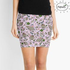 Quokka Patterned Mini Skirt by nemki on Etsy