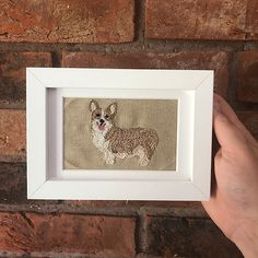 NEW ARRIVALS | ELHembroidery Portrait Embroidery, Embroidered Gifts, Eye For Detail, Just Married, Pet Portraits, Unique Gifts, Gift Wrapping, Handmade Items, Frame