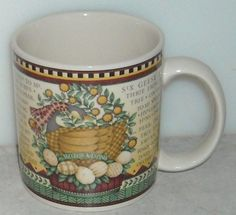 Sakura Debbie Mumm 12 Days of Christmas 6 Geese A Laying Holidays Coffee Cup Mug  ~ This Item is for sale at LB General Store http://stores.ebay.com/LB-General-Store ~Free Domestic Shipping ~