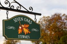 Seven Oaks House Name Sign | Danthonia Designs