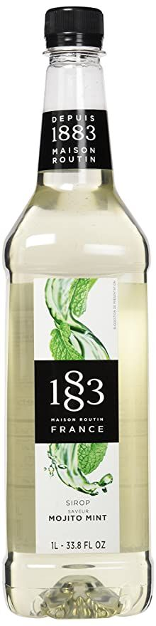 Amazon.com : 1883 Maison Routin - Mojito Mint Syrup - Made in France - Pet Bottle | 1 Liter (33.8 oz) : Grocery & Gourmet Food Hawaiian Shaved Ice, Snow Cone Syrup, Famous Cocktails, Lavender Syrup, Ice Cream Treats, Pet Bottle, Ice Pops, Frozen Treats, Mojito