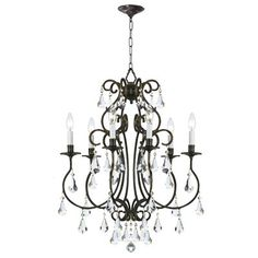Crystorama Lighting 5016 6 Light Ashton Chandelier