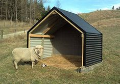 Strong and relocatable Kitset Livestock Shelter. Relocatable design that can be towed by Free kitset delivery to transport depots in NZ. Sheep Shelter, Goat Shelter, Horse Shelter, Shelter Dogs, Animal Shelter, Animal Rescue, Chicken Shelter, Sheep House, Sheep Pen