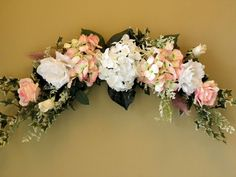 164 best swaggin arrangements and swags images on pinterest floral romanticpinkhydrangearosesilkfloralswagby mightylinksfo