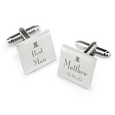 Decorative Wedding Best Man Square Cufflinks - Product number 2391724