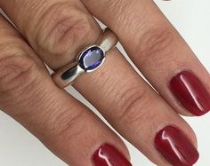silver Iolite ring,Iolite stone,Iolite jewelry,silver ring,stone ring,gemstone…  Similar to Maas Iolite ring
