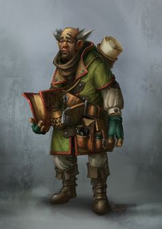 Scribe - Character Painting by MarschelArts