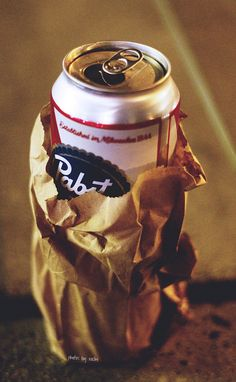 PBR in street attire Guys Be Like, Just For You, New Americana, American Beer, Pabst Blue Ribbon, I Chef, Vintage Soul, Tumblr, Brown Paper