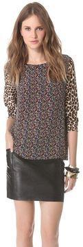 ShopStyle.com: Equipment Liam Blouse with Contrast Prints $208.00