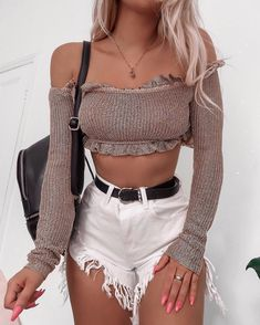 Find images and videos about girl, fashion and style on We Heart It - the app to get lost in what you love. Cute Summer Outfits, Girly Outfits, Short Outfits, Sexy Outfits, Spring Outfits, Trendy Outfits, Cool Outfits, Fashion Outfits, Fashion Closet