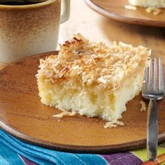 Moist Lazy Daisy Cake Recipe from Taste of Home -- shared by Carrie Bartlett of Gallatin, Tennessee