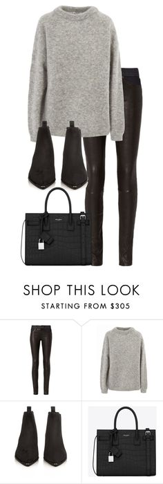 """Untitled #2884"" by elenaday on Polyvore featuring rag & bone, Acne Studios and Yves Saint Laurent"