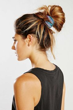Finishing touches - Scrunchies are made of cotton and they're not as tight as an elastic band, which means you won't have any kinks in your hair after tying it up when you're getting ready in the morning.  $8; Urban Outfitters.
