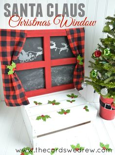 DIY Santa Claus Christmas Window