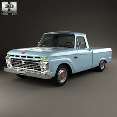 Ford F-100 1966 3d model from humster3d.com. Price: $75