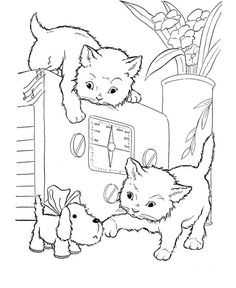 cats playing on a oven animal coloring pages printable and coloring book to print for free. Find more coloring pages online for kids and adults of cats playing on a oven animal coloring pages to print. Heart Coloring Pages, Dog Coloring Page, Animal Coloring Pages, Coloring Pages To Print, Coloring For Kids, Printable Coloring Pages, Coloring Pages For Kids, Coloring Sheets, Coloring Books