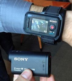 The Sony HDR-AS100V.
