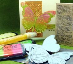 directions for cool shimmer paper used for butterfly