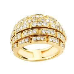 Cartier 18K Yellow Ring | From a unique collection of vintage cocktail rings at https://www.1stdibs.com/jewelry/rings/cocktail-rings/