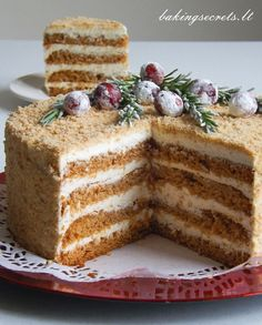 Honey Layer Sponge Cake