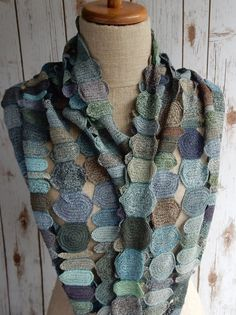 """""""People"""" Large Linen Scarf"""