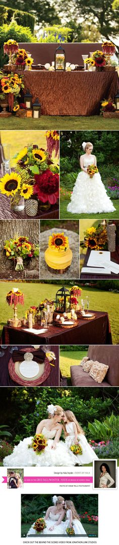 Sunflower inspired tabletop by Events by Hala. For the complete list of vendors including floral by Lush Couture Floral check out the latest issue of Brides of North Texas today! Photos by Hiram Trillo Photography
