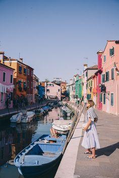 Gal Meets Glam Venice to Burano Island - SAU dress, Claude Pierlot sweater, Ann Tayor flats and Gucci bag