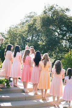 Peach Pink Bridesmaids Dresses! You choose colour, you choose style....we do the rest at Jessica Bridal in Auckland, NZ.