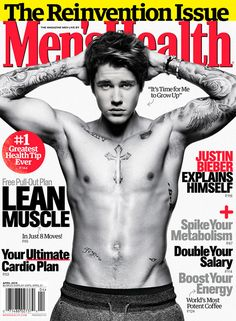 This Justin Bieber Men's Health Photoshoot is All Grown Up #popculture trendhunter.com