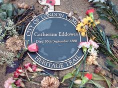 Catherine Eddowes - Victim of Jack the Ripper. She was the fourth of five confirmed Ripper victims. Most modern investigators and researchers believe that Jack the Ripper had more victims than the five confirmed ones. Old Cemeteries, Graveyards, Famous Graves, 30 September, Perfect Peace, Find A Grave, How To Memorize Things, Memories, Forensics