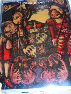 Wappenscheibe Wappenbild Wittelsbacher Herzogtum Bayern Herzöge Bleiglas | eBay