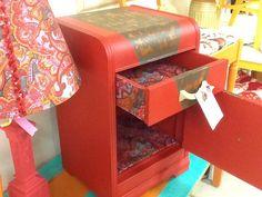 Fabric embellished drawers